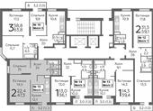 Планировка 2-комн. квартиры 47,30 м2