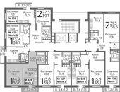 Планировка 1-комн. квартиры 36,60 м2