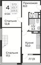 Планировка 4-комн. квартиры 105,50 м2