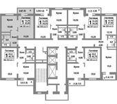 Планировка 1-комн. квартиры 35,90 м2