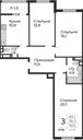 Планировка 3-комн. квартиры 79,90 м2