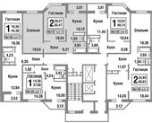 Планировка 2-комн. квартиры 65,47 м2