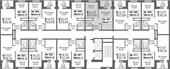 Планировка 1-комн. квартиры 33,66 м2