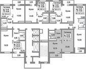 Планировка 1-комн. квартиры 40,70 м2