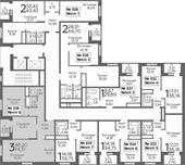 Планировка 3-комн. квартиры 74,31 м2