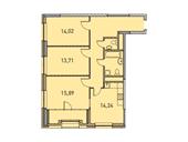 Планировка 3-комн. квартиры 85,50 м2