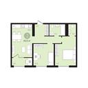Планировка 2-комн. квартиры 60,60 м2
