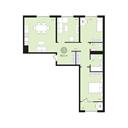 Планировка 3-комн. квартиры 85,20 м2