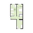 Планировка 2-комн. квартиры 67,00 м2
