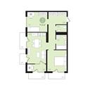 Планировка 2-комн. квартиры 71,30 м2