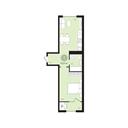 Планировка 1-комн. квартиры 43,60 м2