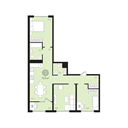 Планировка 3-комн. квартиры 75,50 м2