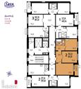 Планировка 2-комн. квартиры 61,00 м2