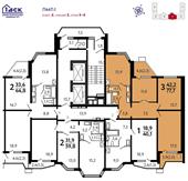 Планировка 3-комн. квартиры 77,70 м2