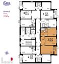 Планировка 2-комн. квартиры 60,90 м2