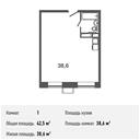 Планировка 1-комн. квартиры 42,50 м2