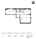 Планировка 3-комн. квартиры 78,16 м2