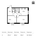 Планировка 2-комн. квартиры 47,60 м2